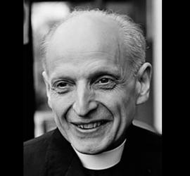 Photograph of Pedro Arrupe SJ smiling